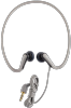 Scosche Sport Wrap-Around Earbuds with Sweat Resistance, 15mm Audio Drivers, and Non-Tangling Audio Cable